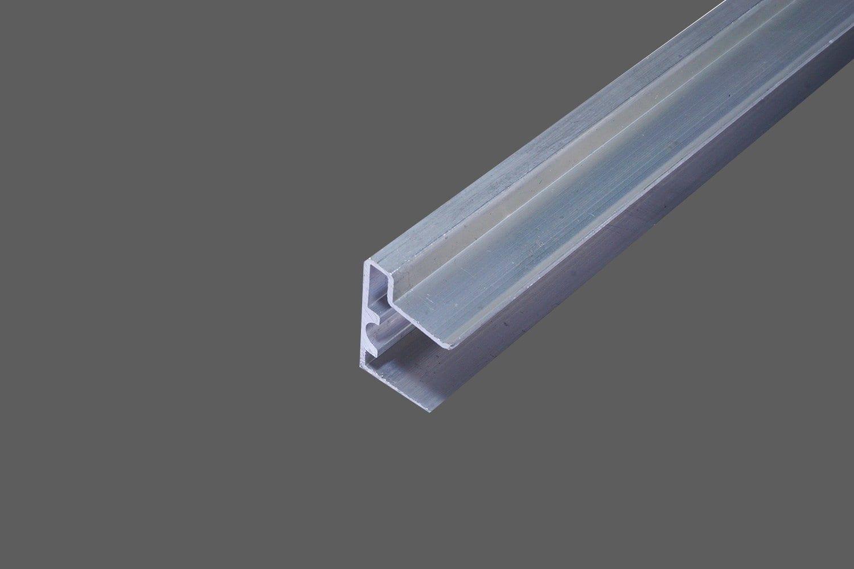 U Abschlussprofil Mit Tropfkante Für 16 Mm Stegplatten Aluminium Pressblank Verschluß Untere Seite Der Stegplatten