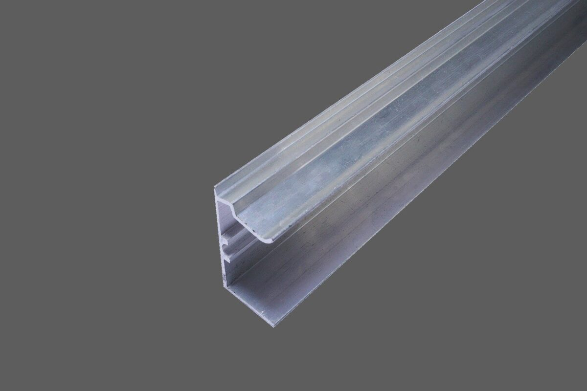 U-Abschlussprofil universal für 25 mm Stegplatten Aluminium pressblank