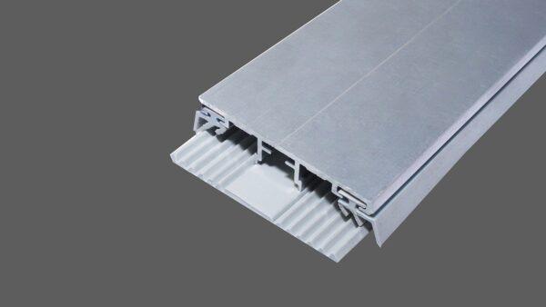 Universal Oberprofil 60mm Alu-Gummi für Platten in 8mm Stärke inkl. Lippendichtungen und TPR-Auflagegummi Typ A