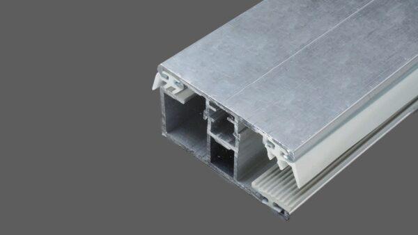 Randkomplettsystem-60mm-Alu-Alu-für-8-mm-Glas-inkl.-Rippen-und-Lippendichtungen