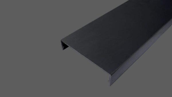 Klemmdeckel 60mm aus Aluminium anthrazit für alle Glas-Profilsysteme in 60mm Breite