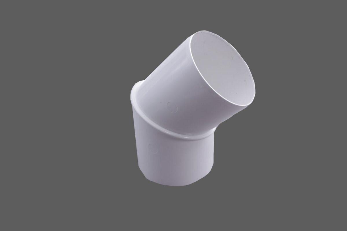 Rohrbogen Rohrwinkelbogen 45° Pvc Weiß